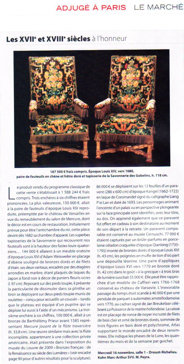 Marc-Arthur Kohn_La-Gazette-de-Drouot_25-11-2011
